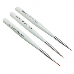 3pcs Acrylic Nail Art Brush Painting Polish Drawing Pen Tools