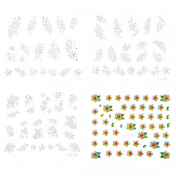 40 Sheets 3D Design Nail Art Sticker Tip Decal Decorations 10 free