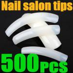 500PCS Milky Salon French False Acrylic 3D Nail Art tips Nail Art