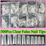 500pcs Clear Nail Tips Nail Art