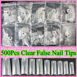 500pcs Clear Nail Tips