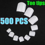 500pcs White UV Gel Acrylic False Toe 3D Nails Art Tips Nail Art