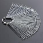 50PCS Transparent Detachable Nail Display Tool Foldable Fan Board Nail Art
