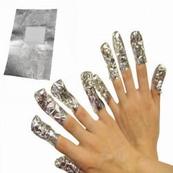 50Pcs Aluminous Foil Soak Off UV Gel Nail Remover Cleaner