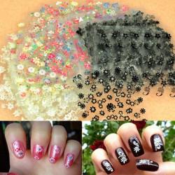 50 Sheet 3D Mixed Styles Flower Design Tip Decal Nail Art Stickers