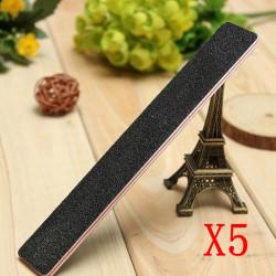 5PCS Black Double Sided Sanding Nail File Stick 180/100
