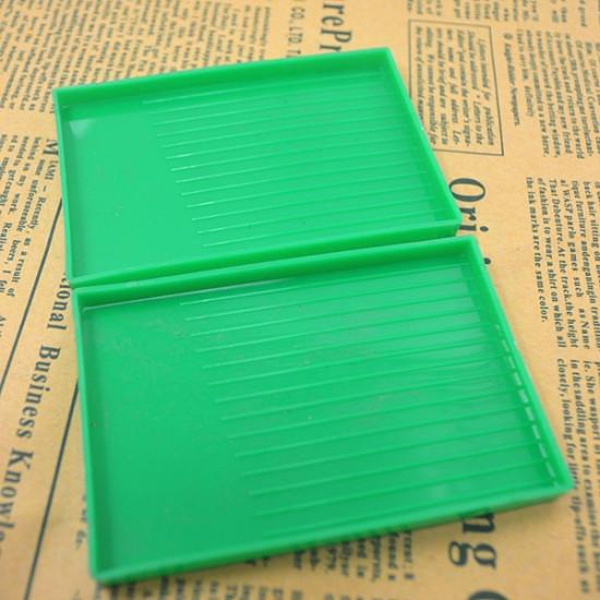 5PCS Plastic Rhinestone Rectangle Tray Plate Nail Dish Tool 2021