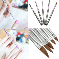 5Pcs Detachable UV Gel Acrylic Nail Art Polish Tool Drawing Pen Brush