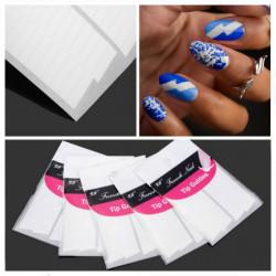 5Pcs French Manicure Stripe Edge Tip Guides Nail Art Sticker