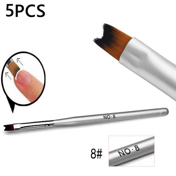 5Pcs Nail Painting Drawing French Manicure Phototherapy Pen Brush Nail Art