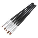 5Pcs Tiny Nail Art Acrylic UV Gel Pen Painting Flat Brush Set Tool Nail Art