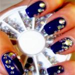 5 Sizes White Multicolor Acrylic Rhinestone Nail Decoration Wheel Nail Art