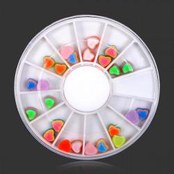 5mm Resin 3D Heart Nail Art Decoration Wheel