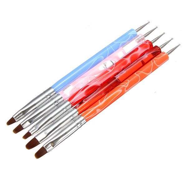 5pcs Acrylic Nail Art Design Dotting Painting Brush Pen Tool Set Nail Art