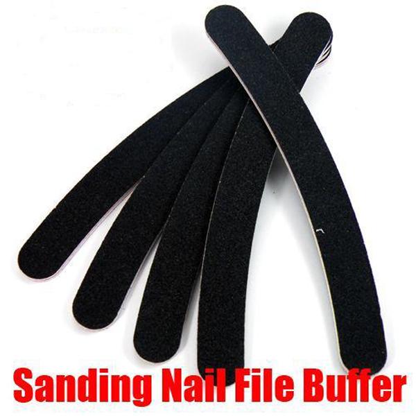 5pcs Sanding Nail Art File Buffer Crescent Buffing Block Nail Art