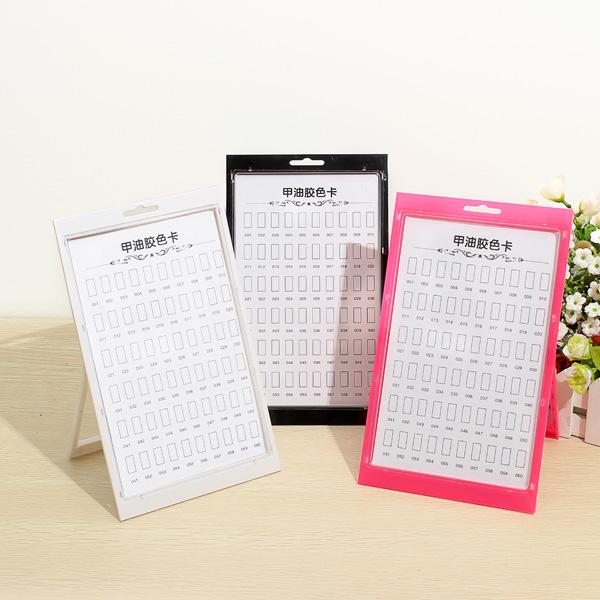 60 Colors Acrylic Nail Polish Gel Tips Display Stand Board Frame Nail Art