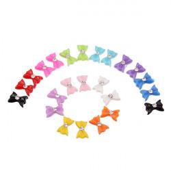 60Pcs 3D Bowtie Acrylic  Rhinestone Butterfly Nail  Art Stickers