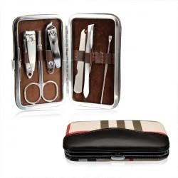 6Pcs Manicure Nail Care Clipper Scissor Tweezers File Pedicure Set