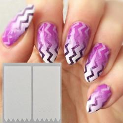 6 Styles French Manicure Wavy Arc Fringe Tip Nail Sticker