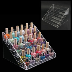 6 Tiers Acrylic Nail Art Polish Display Stand Rack Makeup Organizer