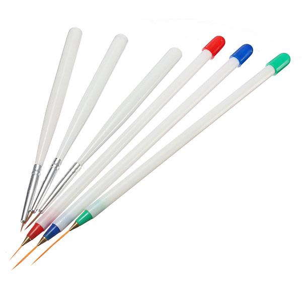 6pcs Pro Nail Art Brush Set Painting Polish Drawing Pen Tools Nail Art
