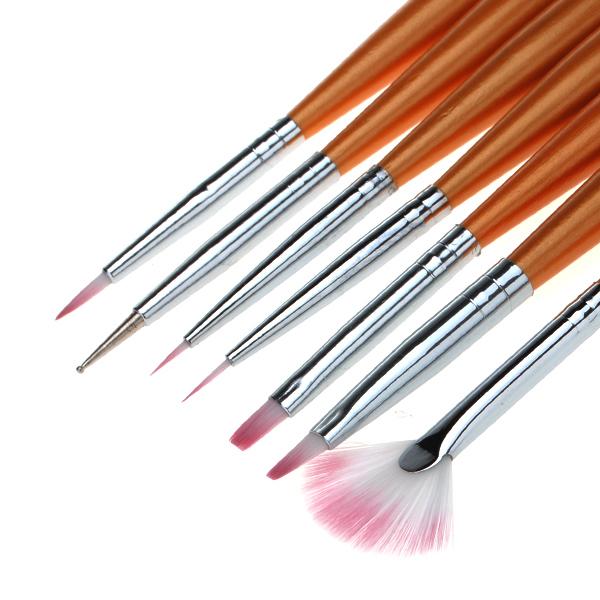 7 Nail Art Design Drawing Painting Pen Polish Brush Set Nail Art