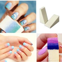 8Pcs Gradient Nail Art Soft Sponges Manicure Accessories
