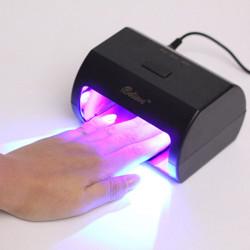 9W 100-240V Black Nail Art LED Lamp UV Gel Polish Dryer