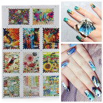 BLE Postage Stamp French Nail Art Tips Water Transfer Decals Sticker Nail Art