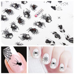 BLE Spider Nail Art Water Transfer Decal Sticker Nail Art