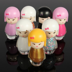 Baby Doll Design 7 Colors Bright Glitter Nail Polish 7ML