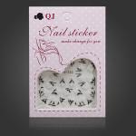Black White Flower Nail Art Sticker Water Transfer Decals Nail Art