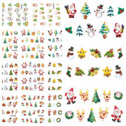 Christmas Santa Snowman Tree Nail Art Sticker Water Transfer Decals