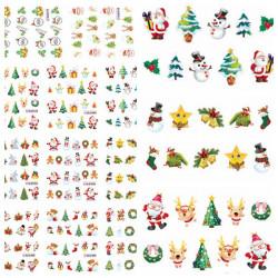 Christmas Santa Snowman Tree Nail Art Sticker Water Transfer Decals