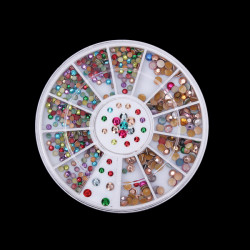 Colorful Glitter Rhinestone Nail Art Decoration Wheel