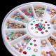 Colorful Glitter Rhinestone Nail Art Decoration Wheel 2021