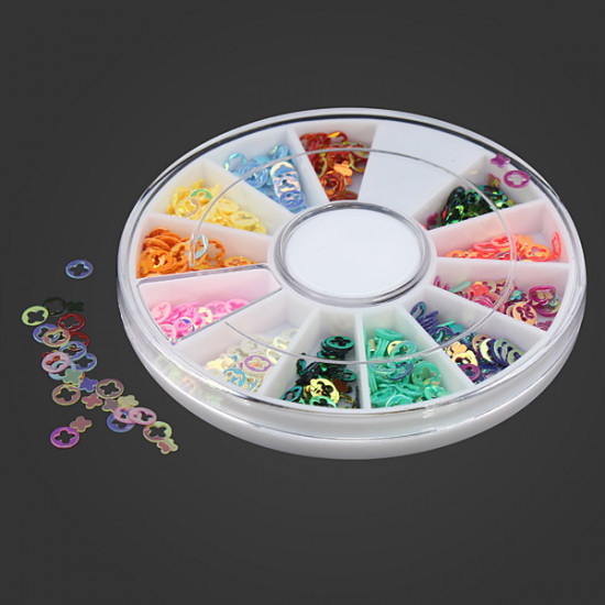 Colorful Hollow Cross DIY Nail Art Decoration Wheel 2021