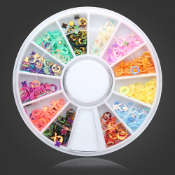 Colorful Hollow Cross DIY Nail Art Decoration Wheel