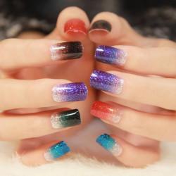 Colours Gradual Change Nail Art Sticker 3D Design Nail Polish Stickers