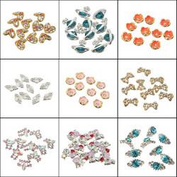 Crystal Rhinestones Metallic Gold Nail Art Decoration