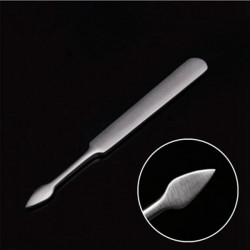 Cuticle Nail Stainless Steel Pusher Dead Skin Shovel