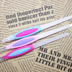 Dual Purpose 2 In 1 Nail Manicure Nail File Dead Skin Peeling Fork