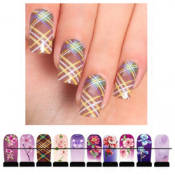 Flower Pattern Water Transfer Nail Decal Sticker