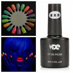 Fluoresce Luminous Neon Soak Off UV Gel Nail Polish Glow In Dark