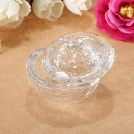 Glass Crystal Cup Dish Arcylic Nail Art Liquid Powder Container 2021