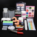 Glitter Acrylic Powder Manicures File Tips Nail Art Set Nail Art