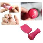 Hot Pink Paint Stamp Scraper Set Nail Art Stamping Decoration Nail Art