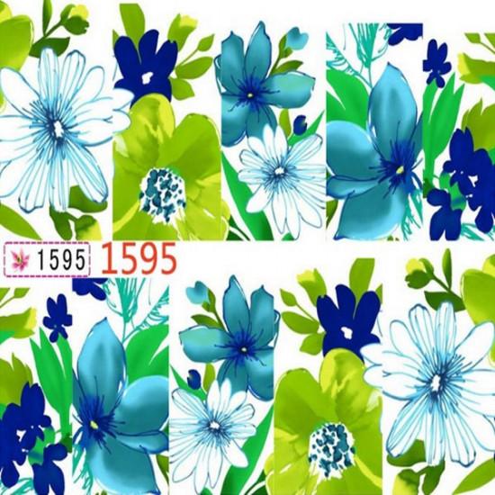 Lotus Flower Plum Blossom Water Transfer Nail Art Sticker 2021