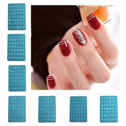 Metal Nail Art Templates Stamping Stencils Plate