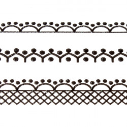 Mix Lace Flower Acrylic Tips Stickers Decals Nail Art Decoration